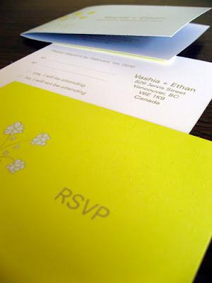 bush wedding invitations