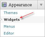 menu widgets wordpress