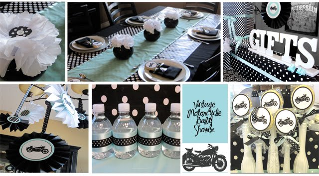 vintage motorcycle baby shower lux events and design