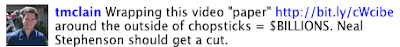 Neal Stephenson Video Chopsticks Ads OLED Wrap Around Pencil Sony