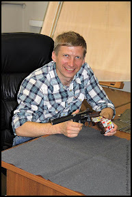Photo: Mikhail Nestruev and his TOZ-49 revolver