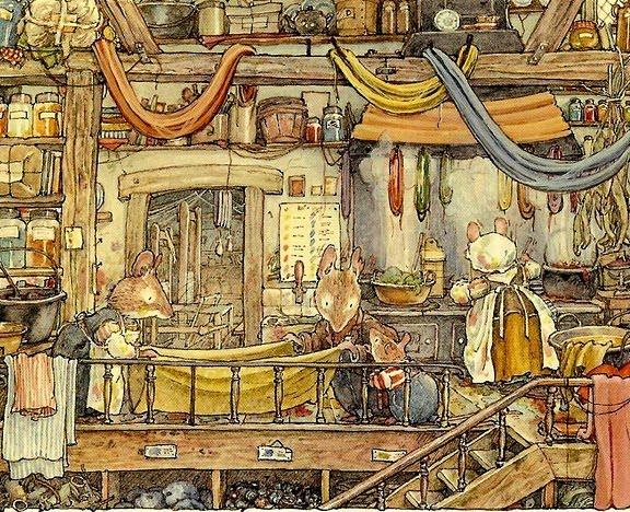 L 39 avan ada de l 39 art jill barklem il lustracions de contes de ratolins - La casa dels ratolins ...