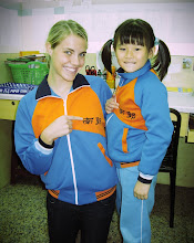 We have matching jackets now! This is Cindy's school, and I had to get one!