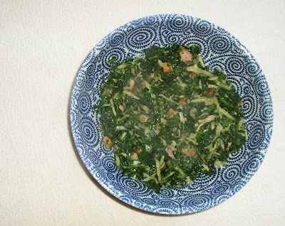 Spinach and Celeriac with Bacon