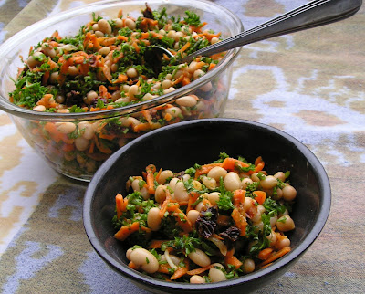Pea or Navy Bean and Parsley Salad