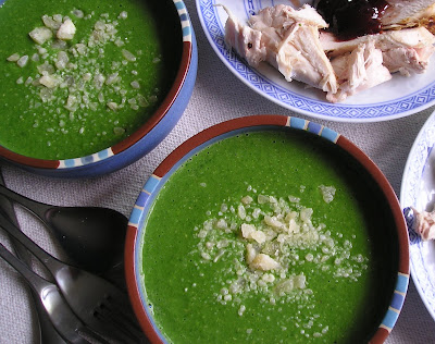 Spinach Asparagus and Pea Soup