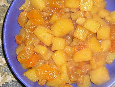 Glazed Rutabaga and Apricots