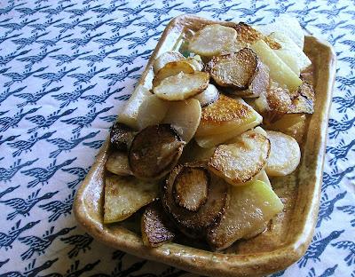 Kohlrabi and Turnips Sauteed in Butter