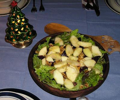 Apple Beet and Walnut Salad