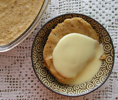 Prune and Apricot Whip with Custard