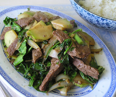 Stir Fried Beef and Kohlrabi