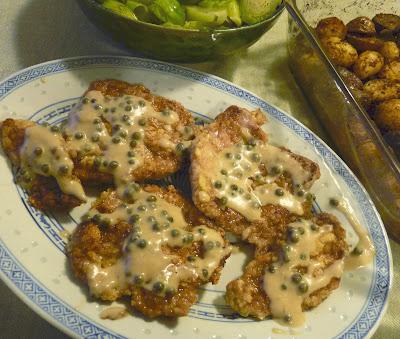 Duck Schnitzel with Green Peppercorn Sauce