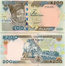 NOTA DE 200 NAIRA DA NIGERIA
