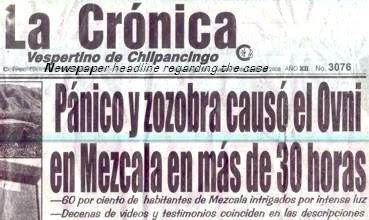 Ovni Causes Panic La Cronica 1-10-08