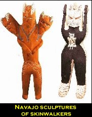 Navajo sculptures of skinwalkers