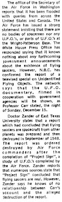 UFO Beings Recovered - Clarkson Integrator - 11-19-1974 (B)