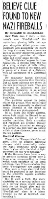 Believe Clue Found To New Nazi Fireballs New York Times - 1-7-1945