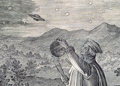 Medieval Astronomer and Flying Saucer