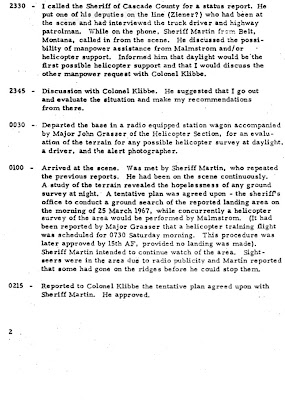 Investigation of UFO Reported Landing on 24 March 1967 (Malmstrom AFB) [B]