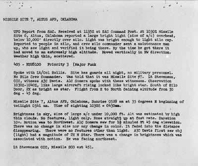 UFO Over SAC Missile Base 5-21-1964 (B)