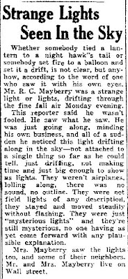 Strange Lights Seen in The Sky - The Landmark 10-24-1946