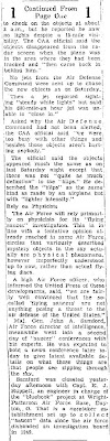 8 To 12  Saucers Appear Over Washington Again; U.S. Calls in Scientists (Body - Cont) - Chester Times 7-29-1952
