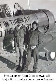 Allan Grant shown with Major Phillips