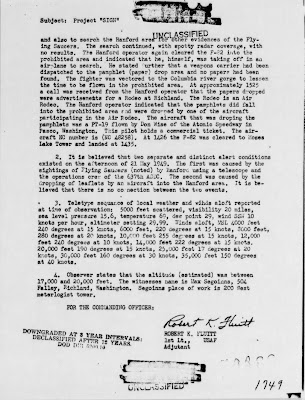 UFO Over Hanford Atomic Plant (2) 5-23-1949