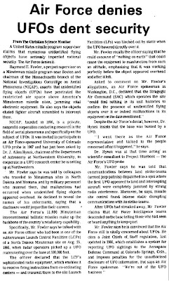 Air Force Denies UFOs Dent Security - The Advocate 12-7-1973