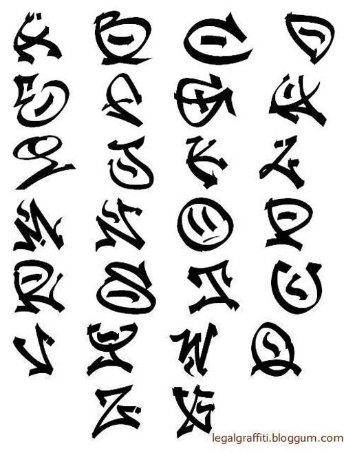 Graffiti Alphabet Letters Collection