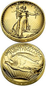 24K U.S. Mint 2009 Ultra High Relief Double Eagle Gold Coin