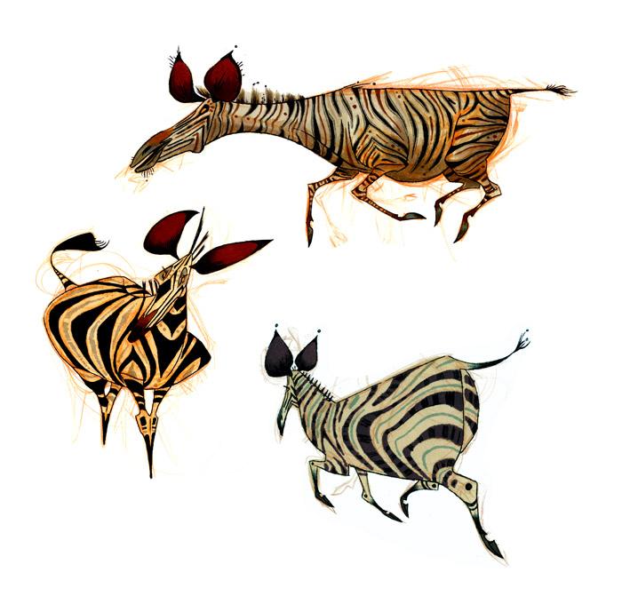 Zebra Character Design : Char blarg andrew shek