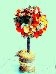 Mini árvores em tecido: uma produção realizada em parceria com Mariana Cipriani