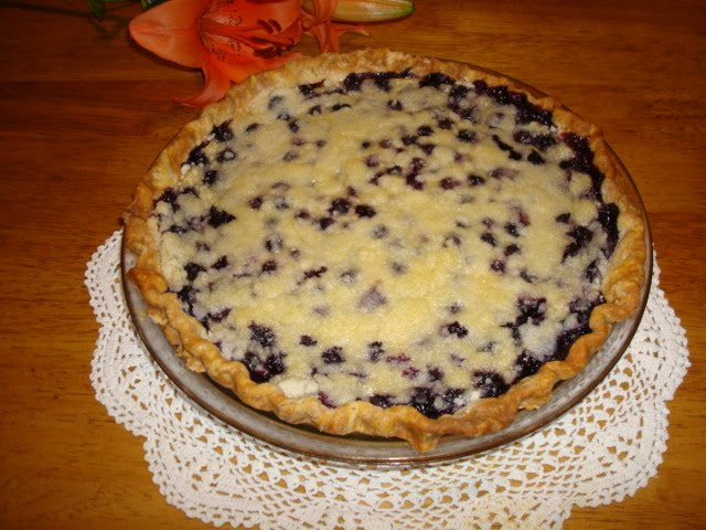 Feed Your Soul and Palate: Blueberry Custard Pie