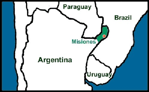 Argentimes Malnutrition In Misiones - Argentina misiones map