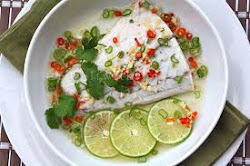 STEAMED FISH IN CHILLI LIME  SAUCE