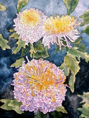 watercolor painting flowers. flower watercolor painting