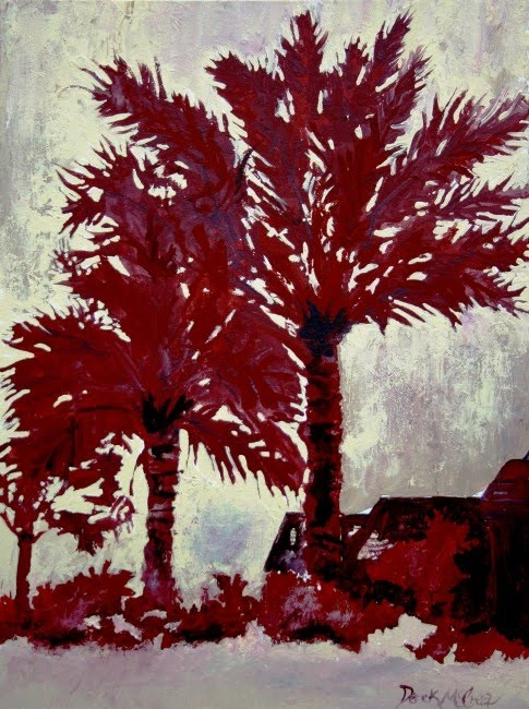 Watercolor paintings art by derek mccrea palm trees for Palm tree painting