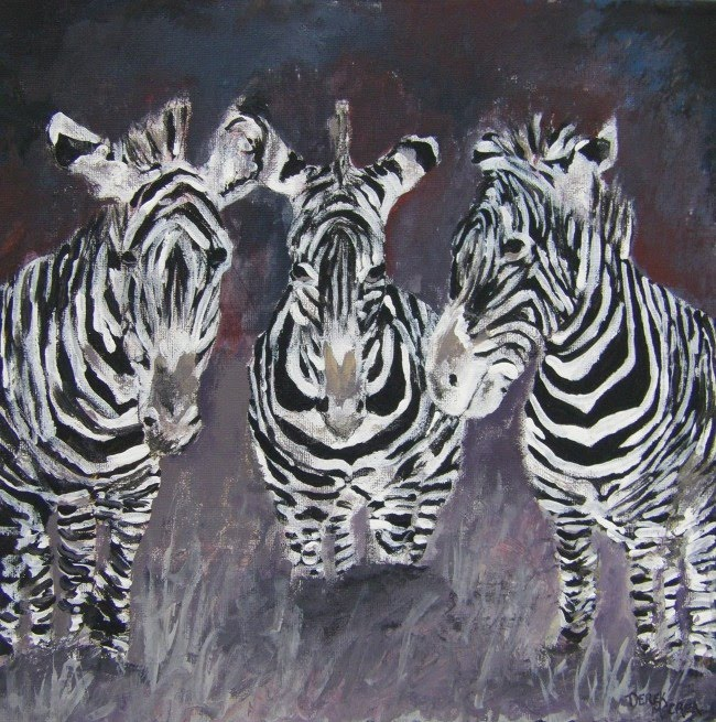 zebra oil painting - photo #21