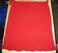 woven stitch almost done