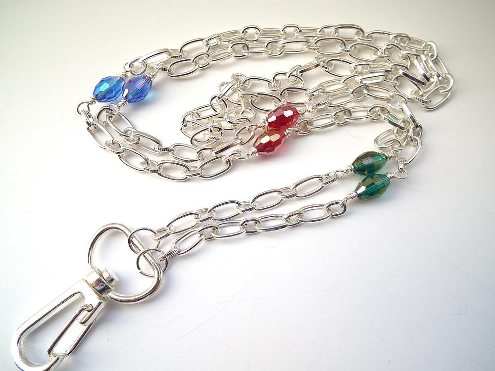 plum beadacious daily jewelry beaded id badge lanyards