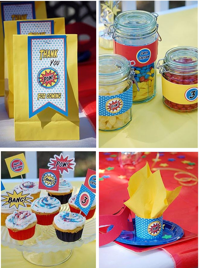 Superhero Party Decorations Party Favors Ideas