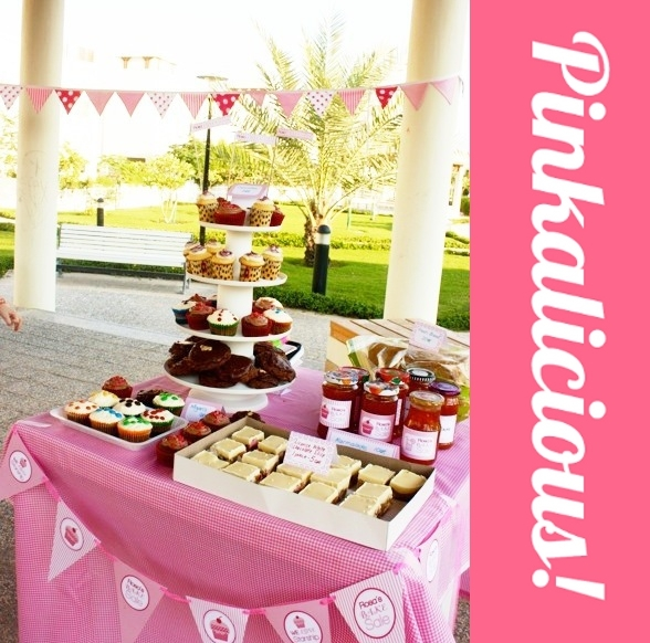 Pink Bake Sale Ideas http://www.blog.birdsparty.com/2010/11/cool-customers-pinkalicious-lemonade.html