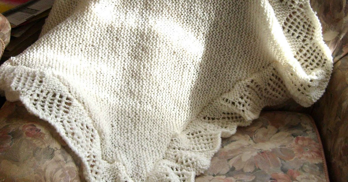 Julies Scrapbook: Old fashioned style knitted baby blanket