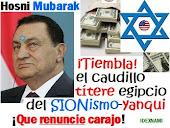 """""""El fin de un caudillo anti-árabe musulmán: Hosni Mubarak"""""""