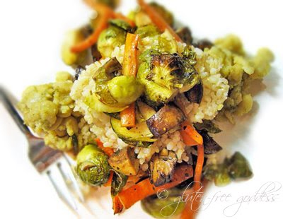 Brussels sprouts with brown rice