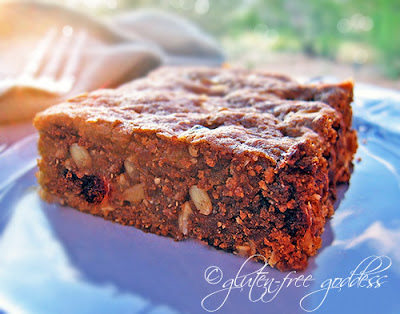 Gluten free oats and quinoa flakes make a tasty breakfast brownie