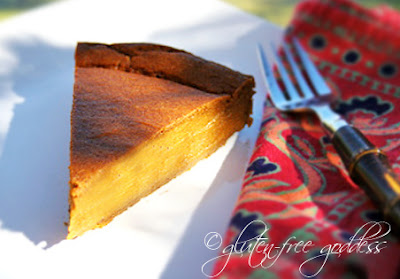 Super easy pumpkin pie- crustless, gluten-free