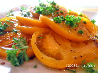 Easy, Fresh and Fast Yellow Tomato Salad