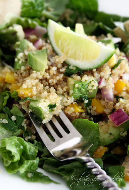 Quinoa taco salad recipe that is gluten free and vegan